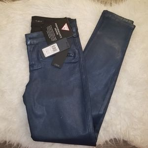 Guess moto coated jegging